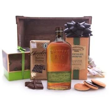 Bulleit Whiskey and Chocolate Assortment