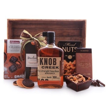 Knob Creek Whiskey and Chocolates Gift