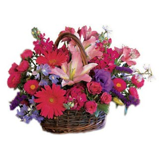 Chic Blooms Flower Basket