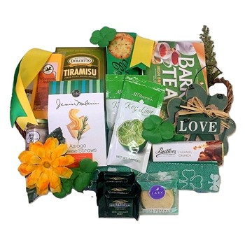 Four Leaf Clover Gift Basket